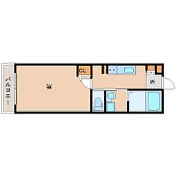 阪神本線 尼崎駅 徒歩7分の賃貸マンション 3階1Kの間取り