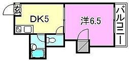 メゾンスバルpart1[303号室]の間取り