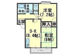 リッチネス阪南D[2階]の間取り