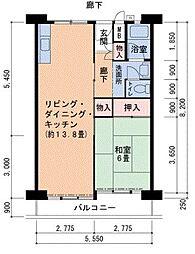 Osaka Metro南港ポートタウン線 南港口駅 徒歩4分の賃貸マンション 3階1LDKの間取り