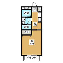 コーポ煌 2号館[2階]の間取り