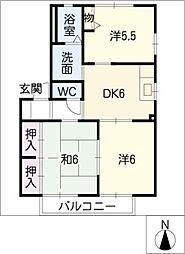 サニーコートK D棟[2階]の間取り