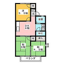 LAKE PALACE NAWA[1階]の間取り