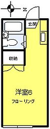 コーポ多摩[2階]の間取り