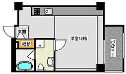 プラチナゲートガレン 2階ワンルームの間取り