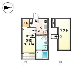 レクサス[1階]の間取り