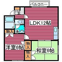 北海道札幌市北区篠路五条3丁目の賃貸アパートの間取り