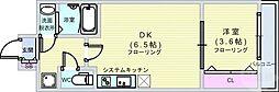 Osaka Metro中央線 堺筋本町駅 徒歩5分の賃貸マンション 9階1DKの間取り
