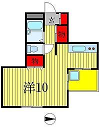メゾン松戸[1階]の間取り