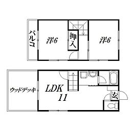 [一戸建] 静岡県浜松市中区鴨江4丁目 の賃貸【/】の間取り