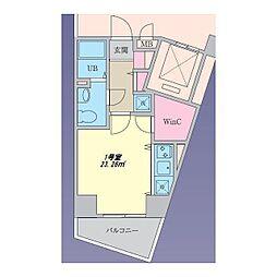 PHGアパートメント横浜山手[0501号室]の間取り