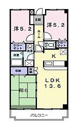 クレセントリヴ[2階]の間取り