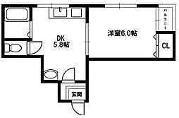 サンライフ菅原[5階]の間取り