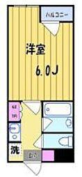 COM.Y.S[206号室号室]の間取り