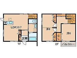 La Ferio 栄谷B[2階]の間取り