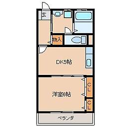 栗木第8ビル[402号室]の間取り