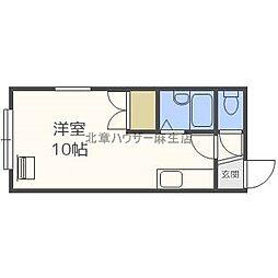 北海道札幌市北区北三十九条西3丁目の賃貸アパートの間取り
