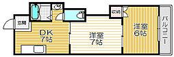 京阪本線 守口市駅 徒歩20分の賃貸マンション 1階2DKの間取り