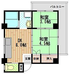 タカラハイツ[3階]の間取り