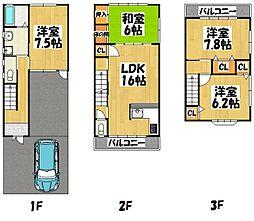 [一戸建] 京都府京都市伏見区深草坊町 の賃貸【/】の間取り
