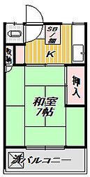 東京都目黒区目黒本町3丁目の賃貸アパートの間取り