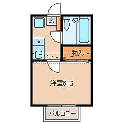 千葉県松戸市南花島の賃貸アパートの間取り