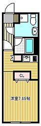 OIKOS東山 4階ワンルームの間取り