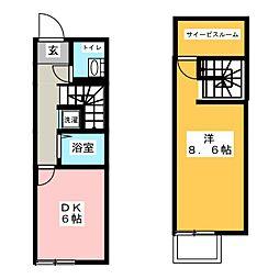 サニーハイツ有松 A棟[1階]の間取り