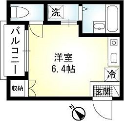 神奈川県横浜市中区山元町1丁目の賃貸アパートの間取り