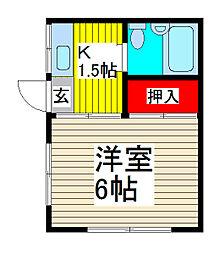 コーポ昭風[10B号室]の間取り