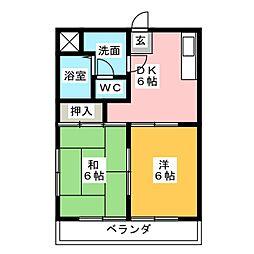 エクセル後藤[2階]の間取り