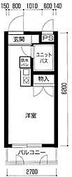 メインステージ中井駅前[210号室号室]の間取り