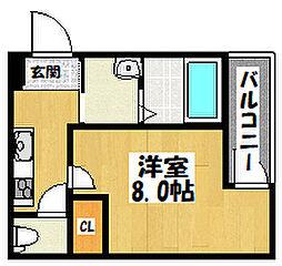 大阪府大阪市城東区諏訪4丁目の賃貸アパートの間取り