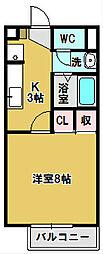 ナチュール B[2階]の間取り