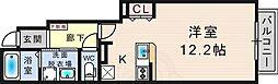 阪急今津線 仁川駅 バス6分 田近野下車 3.5kmの賃貸アパート 1階ワンルームの間取り