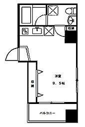 阪東橋新築マンション 仮称 7階ワンルームの間取り