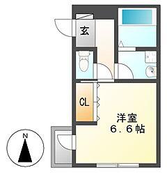 レジデンス金山[2階]の間取り