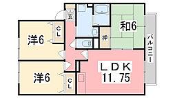 23番館 A[205号室]の間取り
