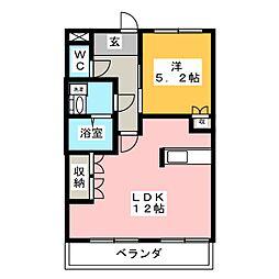 愛知県一宮市森本1丁目の賃貸マンションの間取り