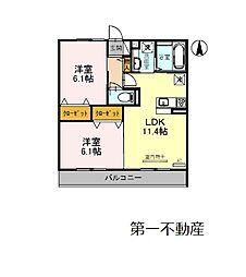 ベルフォーレII[2階]の間取り