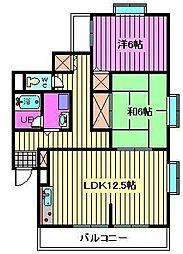 SKマンション11[304号室]の間取り