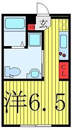 FARE駒込II 3階ワンルームの間取り