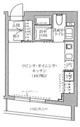 東京都渋谷区恵比寿西1丁目の賃貸マンションの間取り