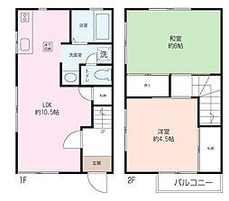 [テラスハウス] 神奈川県横須賀市長浦町1丁目 の賃貸【/】の間取り
