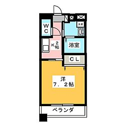 MARCHE一宮[6階]の間取り