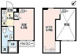 RESIDENCE ODASAGA[2階]の間取り