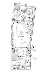 東武亀戸線 亀戸水神駅 徒歩8分の賃貸マンション 5階1Kの間取り