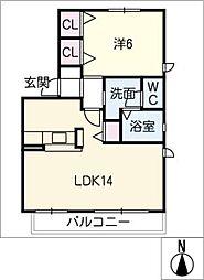 ベレール[2階]の間取り