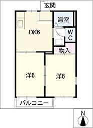 SkyleCosmos E棟[1階]の間取り