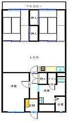 シーアイマンション福山[4階]の間取り